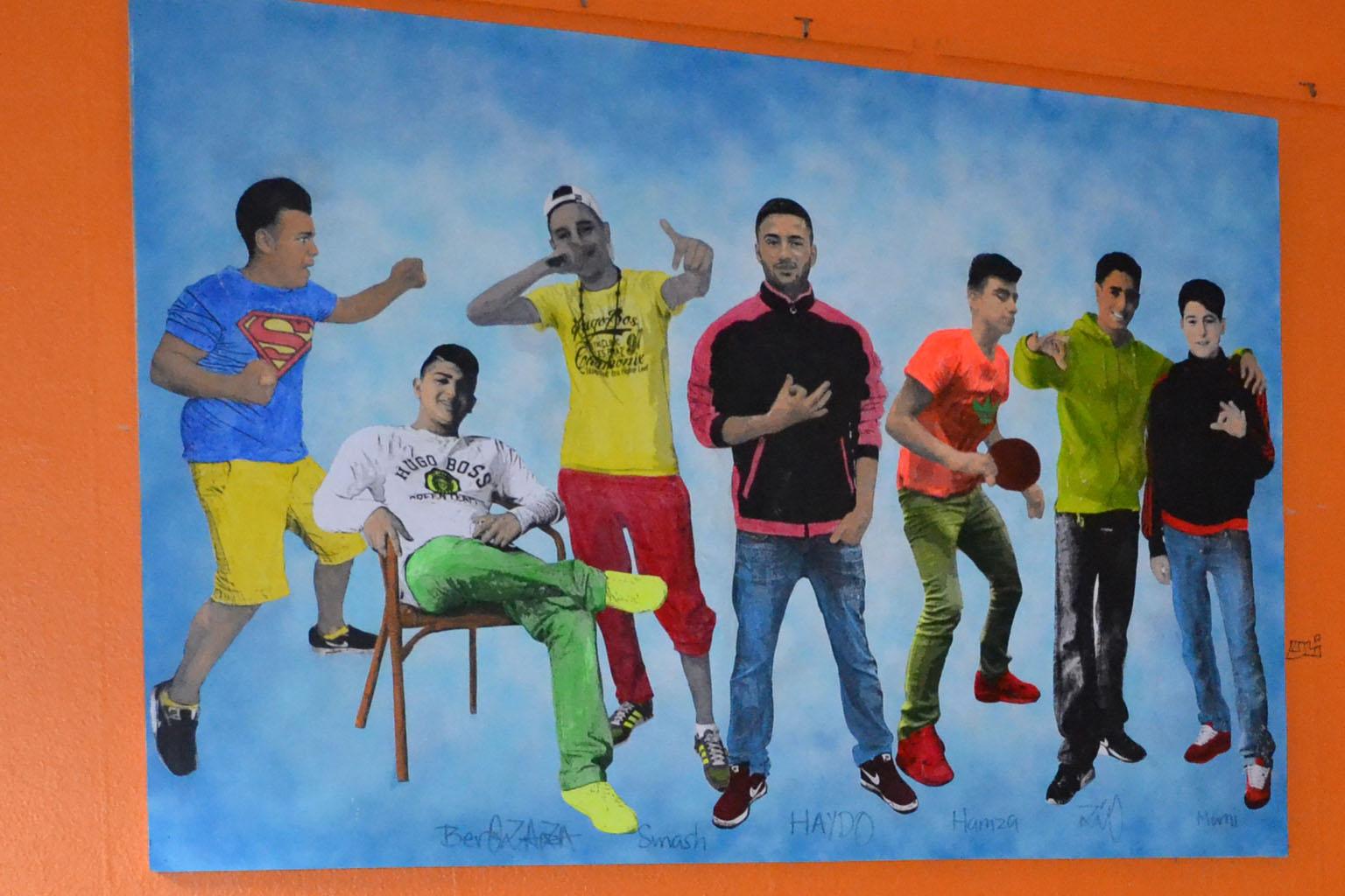 Wandbild Jugendbereich